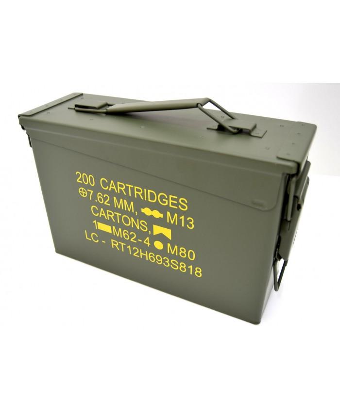 Small Metal Ammo Box 7.62 AmmunitionTool Box