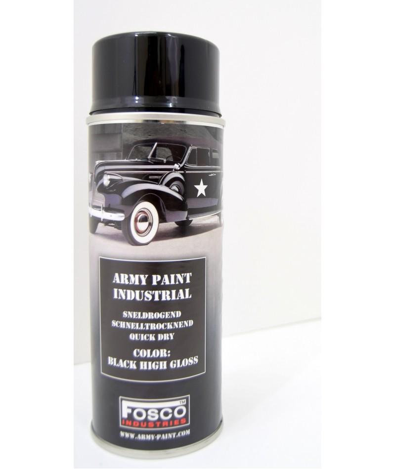 Gloss Black Army Spray Paint 400ml Can